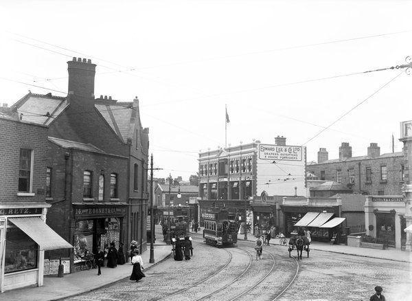 Affluent suburb in Dublin, Ireland in 1911