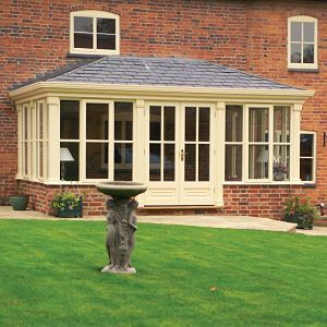 Fawsley are specialists in building beautifully handcrafted garden rooms, conservatories and orangeries that would grace the grandest of homes. Garden rooms are increasingly popular as they provide more shelter than a conservatory and are less formal than an orangery; a perfect choice if you wish to create a pleasant cosy area, from which to enjoy the fruits of your toil with the trowel and the watering can.   The garden room presented here is part-glazed with a tiled roof and vaulted…
