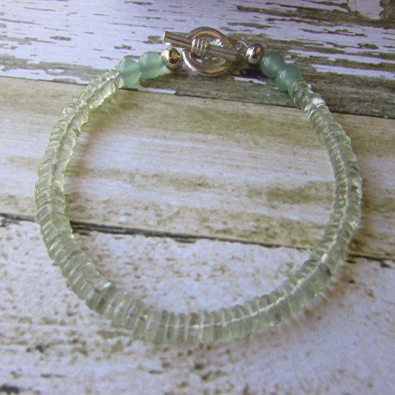 Prasiolite gemstone bracelet healing bracelet by canyonviewjewelry
