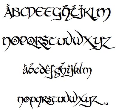 ... -font-the-hobbit and other fonts for elvish and Tolkein-related. More