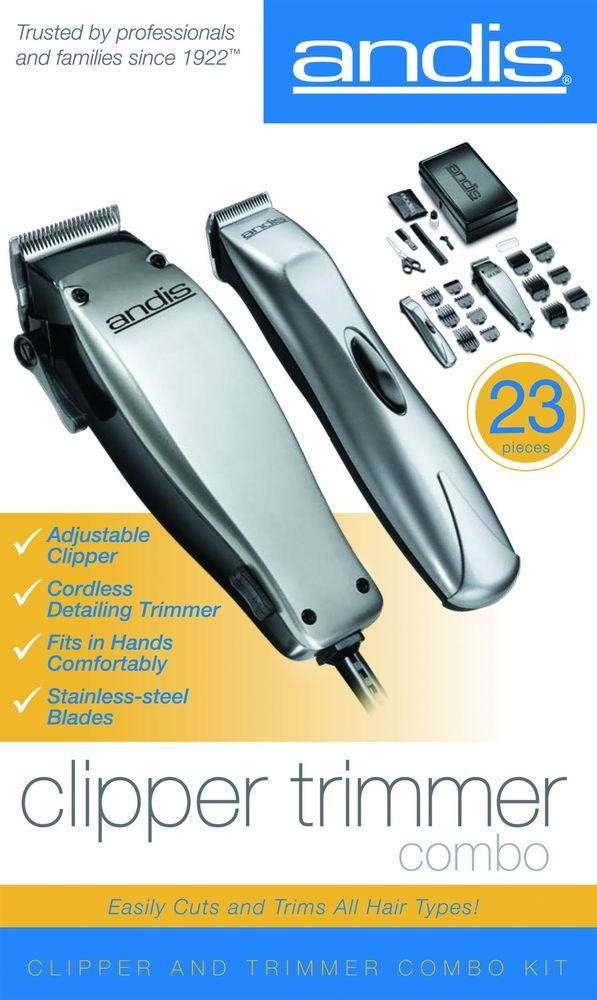 Professional 23 Piece Hair Beard Barber Shop Set Clipper Trimmer Combo Kit NEW #Andis