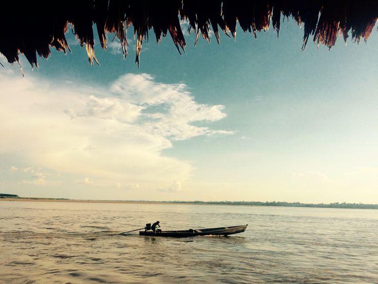 Atardecer #Amazonas #Colombia