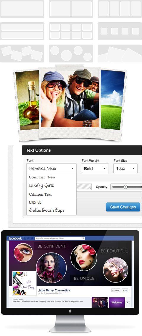 I modelli predefiniti ti aiutano a creare una foto di copertina in pochi clic ecc... per FACEBOOK