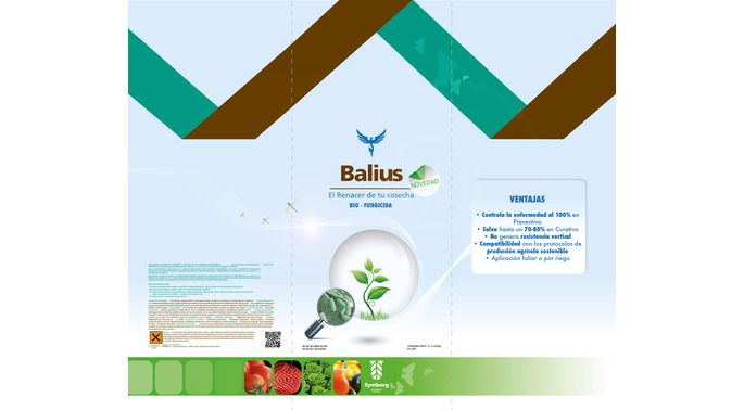 #etiqueta para botella. Bio-fungicida para uso agrícola.