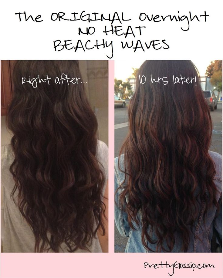 NO HEAT (Overnight) Beachy Waves! Worth a try...though I doubt my hair will cooperate THE VERDICT: I looked ridiculous. Pretty sure this only works if you have straight/wavy hair. Curly-hair gals beware!