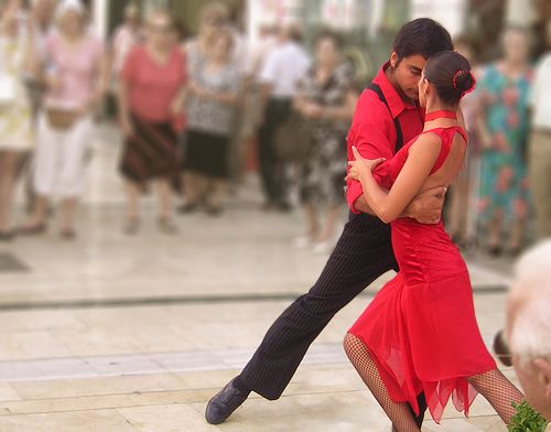 Tango Dancers during the Feria in Malaga, by -N-Root-, via Flickr