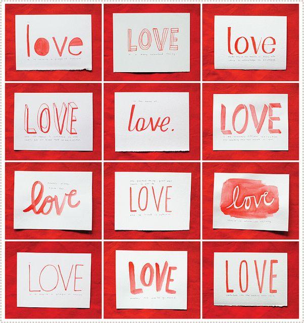lovecards2 by mer mag, via Flickr: Valentines Ideas, Watercolor Types, More Mag, Love Cards, Water Color, Watercolor Cards, Valentines Cards, Watercolor Valentines, Mermag