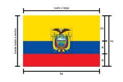 Resultado de imagen para cuanto mide el asta de la bandera ecuador