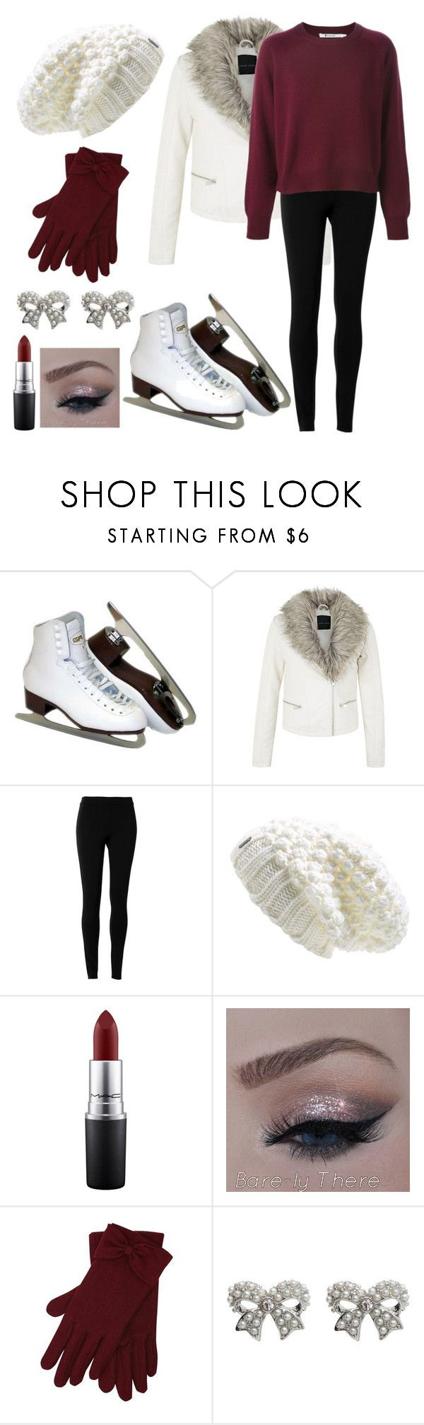 Ice Skating Date by omgsokawaii ❤ liked on Polyvore featuring moda, Max Studio, LolÃ«, MAC Cosmetics i MCo