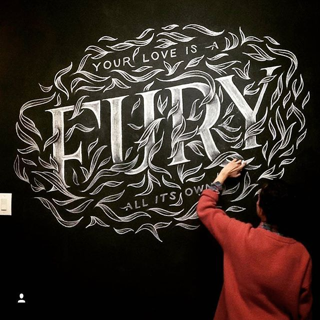 Your love is a fury - All its own ✨ . From a beautiful type work by @briannaailie __ ✔Featured by @thedailytype #thedailytype ✒Learning stuffs via: www.learntype.today __