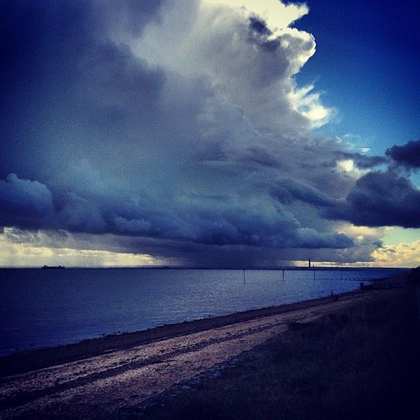 Shoebury Beach Storm Instagram photo by Solopress