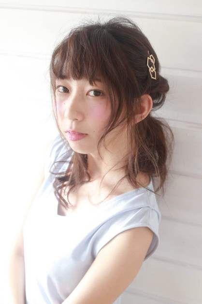 ゆるふわねじりハーフアップ   吉祥寺の美容室 BiBi のヘアスタイル   Rasysa(らしさ)