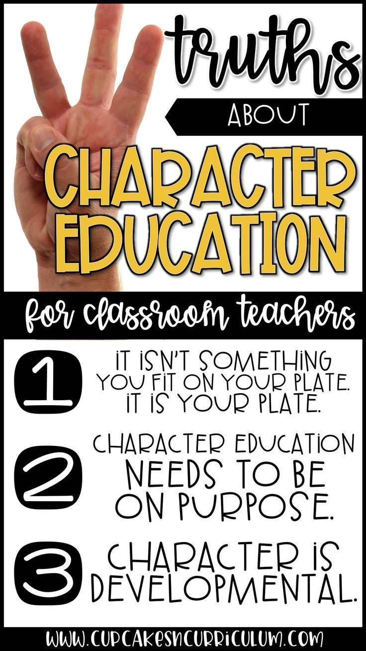 Character education in the elementary classroom.  Information for classroom teachers on teaching character education. via @cupcakestpt