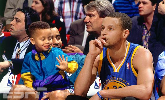 Stephen Curry of the Golden State Warriors, then and now
