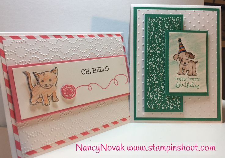 Stampin Up Little Cuties and water color pencils, Little Cuties Cards
