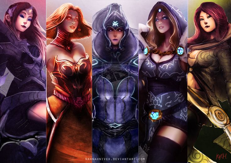 Dota 2 Sentinel Girls by nahnahnivek.deviantart.com on @deviantART