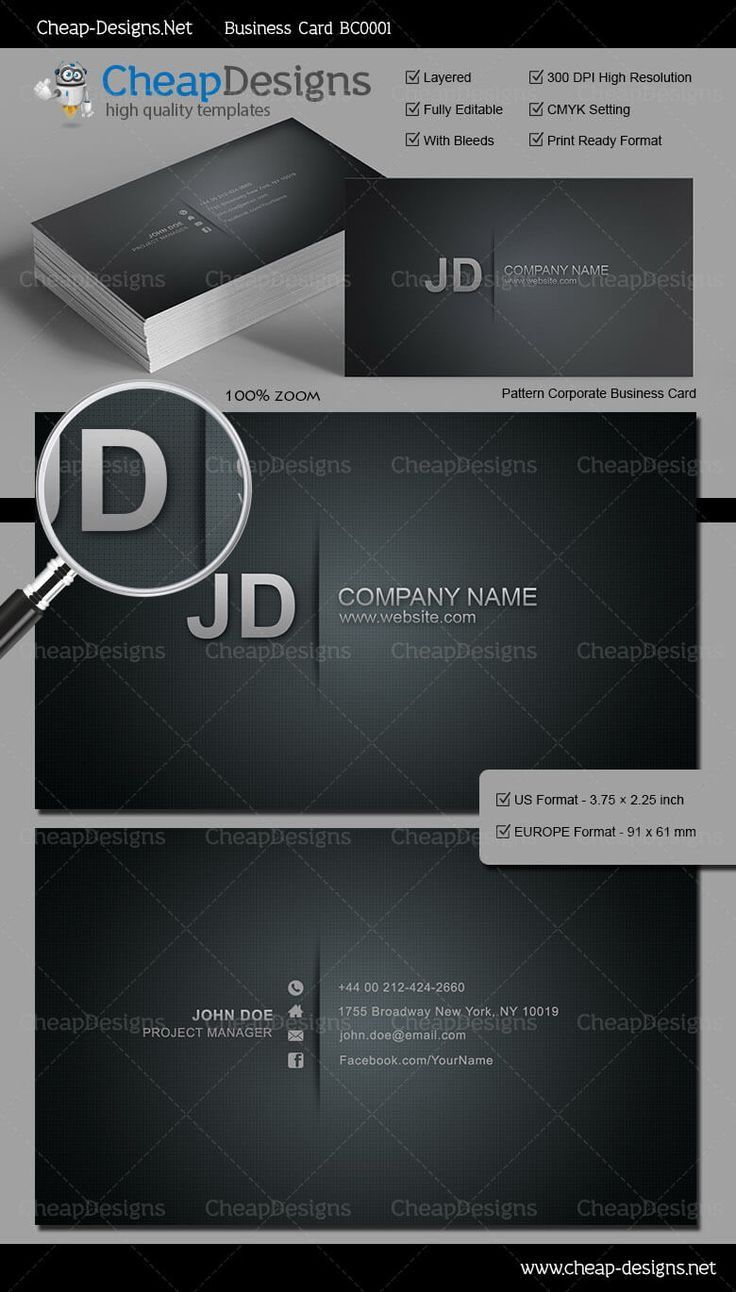 20 best great business card templates images on pinterest pattern corporate business card template choose this template from our library then purchase and magicingreecefo Gallery