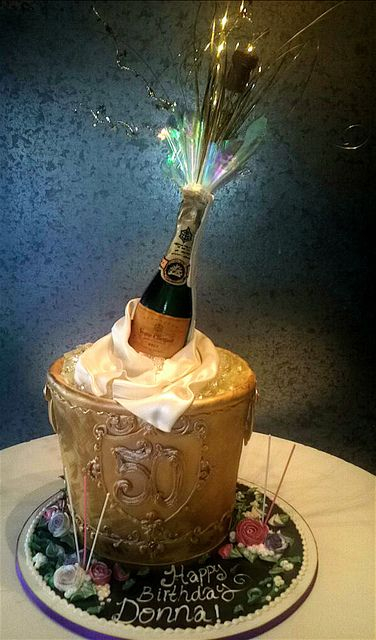 Champagne Bucket | A magnificent edible bucket and exploding… | Flickr