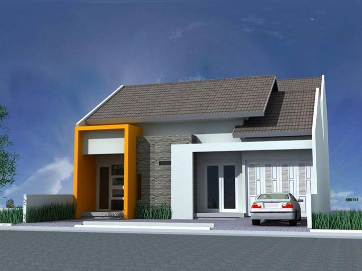 Tampak Depan Satu Lantai Rumah Kecil Desain Fasad Rumah Minimalis