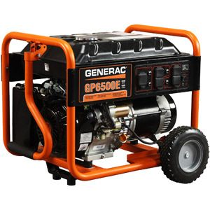 Generac 5941 GP6500E, 6,500 Watt Portable Gas Powered Generator with Electric Start