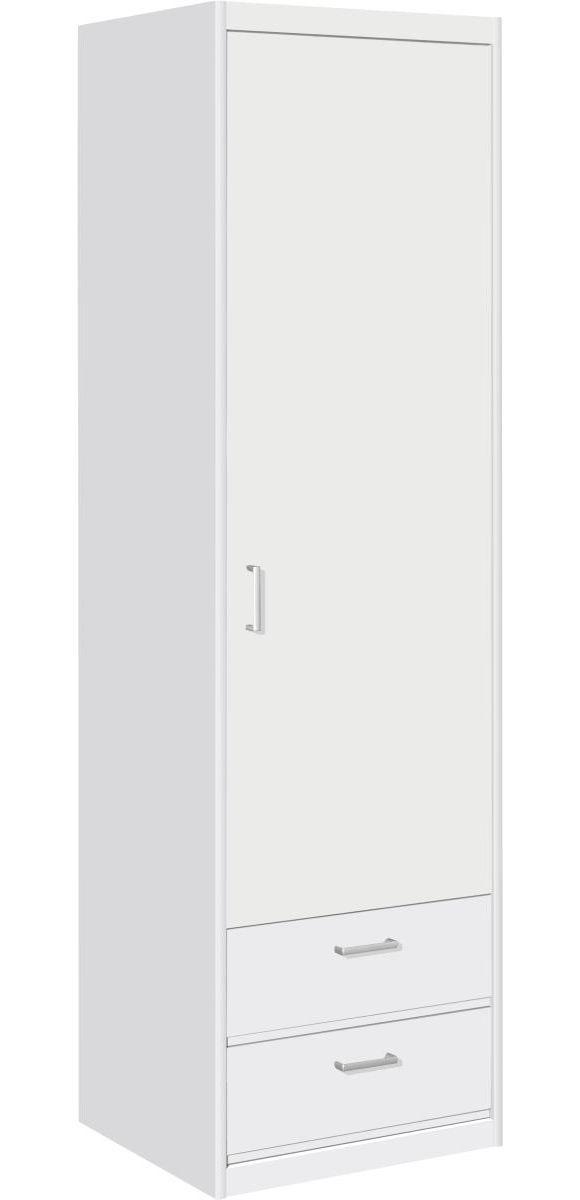 """""""Wäscheschrank mit 1 Türe und 2 Schubladen in Kunststoff Reinweiß. Weitere Varianten und Farbalternativen können direkt in einer unser zahlreichen Filialen bestellt werden."""""""