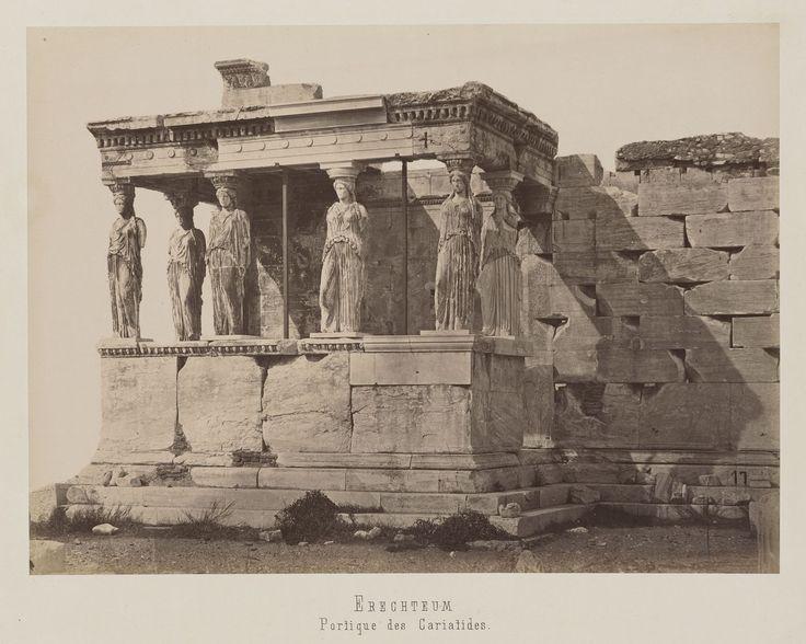 Athènes. Acropole. Vue de la façade sud du baldaquin des Caryatides                     de l'Erechtheion © Musée Guimet, Paris, Distr. Rmn / Image Guimet