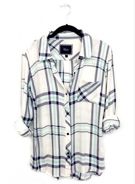 Hunter Mint/White Buttondown | 27 Boutique Super soft buttondown.  Single lined with one chest pocket. Semi-relaxed fit.