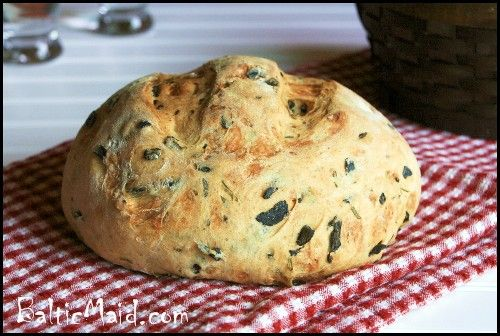 Greek Olive oil bread w. olives and rosemary - Baltic Maid
