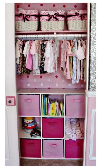 closetClosets Ideas, Closets Organic, Closet Organization, Girls Room, Girls Closets, Kids Closets, Baby Girls, Small Closets, Baby Closets