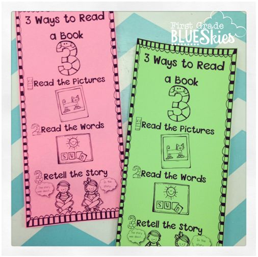Daily 5 {Second Edition} FREEBIE and Book Study Ch 5-6, love these cute free ways to read a book strategy posters and bookmarks from First Grade Blue Skies!