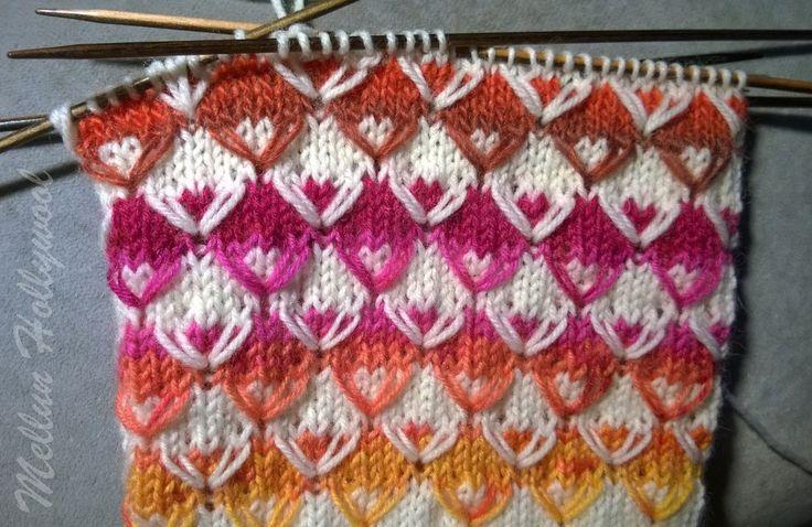 Taas lenkkineuletta, mutta toisella tavalla... Netin syövereistä löysin kuvan tästä neuleesta, mutta unohdin laittaa ylös lähteen. Siis ku...