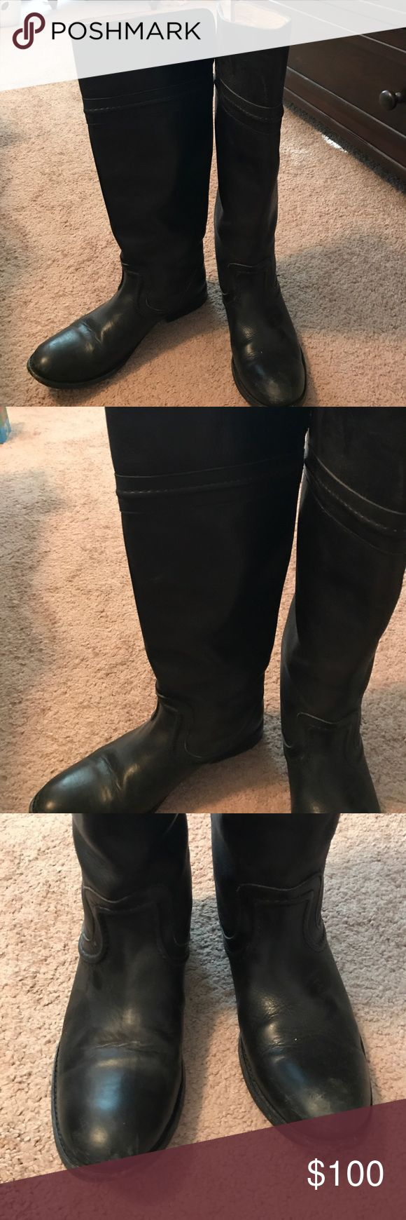 Frye riding boots Frye Melissa Tramputo boot in used but good condition (see pictures).  Slip on boot, normal sized calf Frye Shoes Heeled Boots