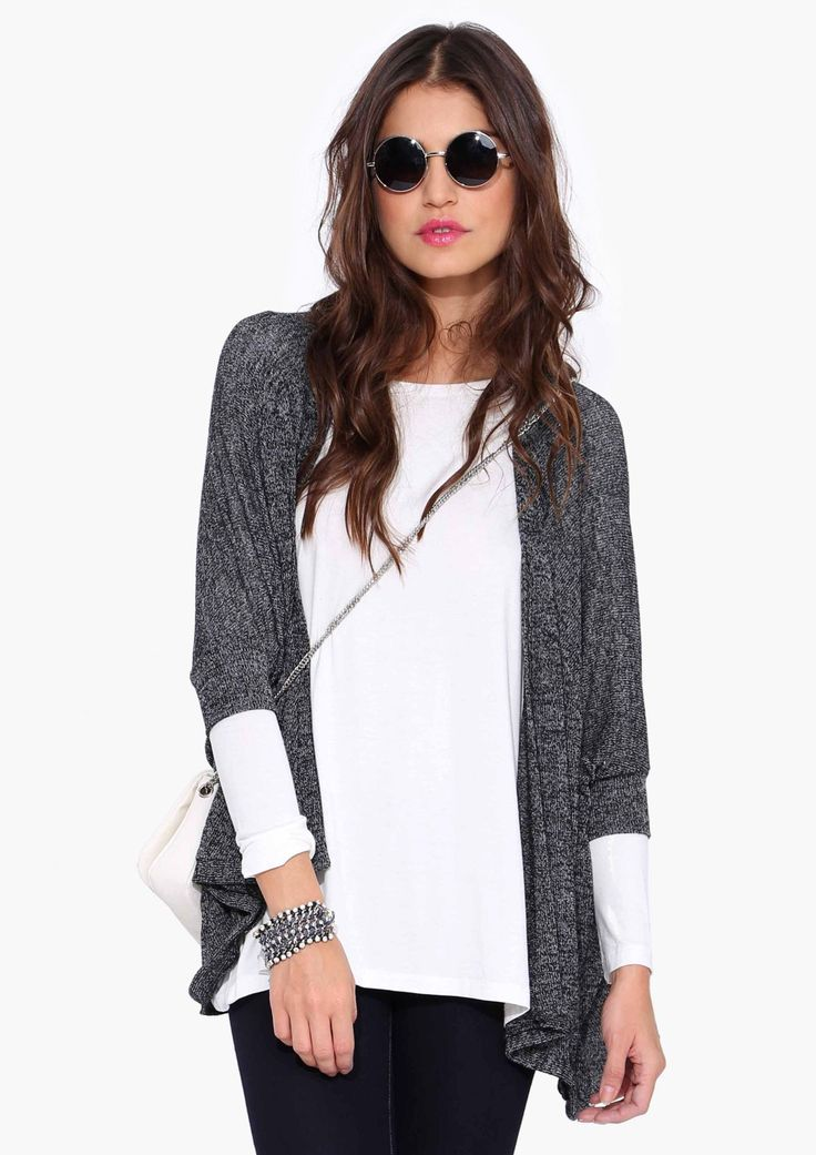 Hard Knock Cardigan in Charcoal | Necessary Clothing ...