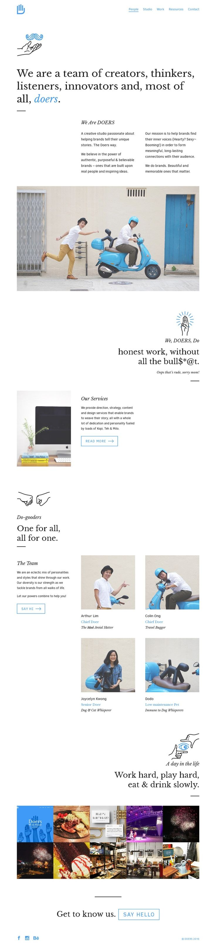 Like the simplicity, #typography, or this website.
