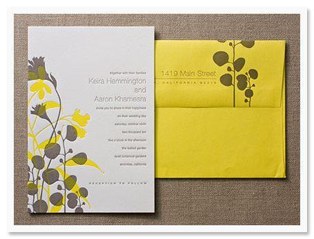 love the yellow #envelope #design #invitation