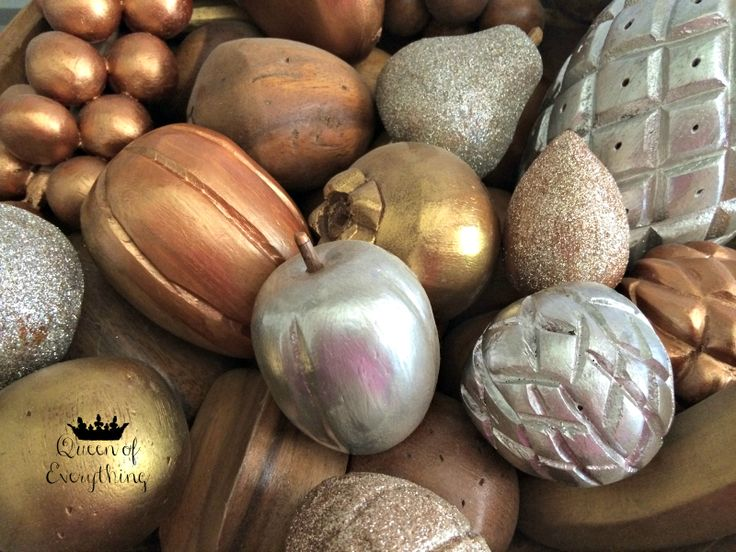 Thrift Shop Wooden Fruit Bowl | Queen of Everything