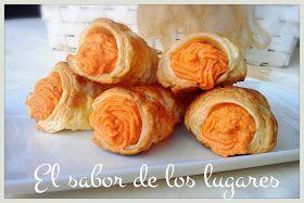 El sabor de los lugares: CONOS DE HOJALDRE RELLENOS DE MOUSSE DE PIQUILLOS Y MARISCO.