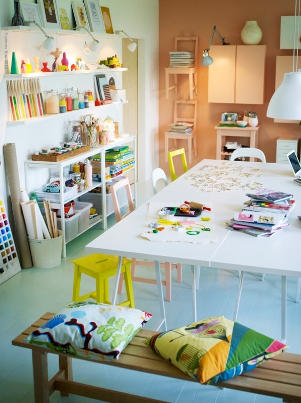 studio space for kids and adults: Crafts Area, Art Spaces, Idea, Art Studios, For Kids, Crafts Rooms, Kids Art, Kids Rooms, Art Rooms