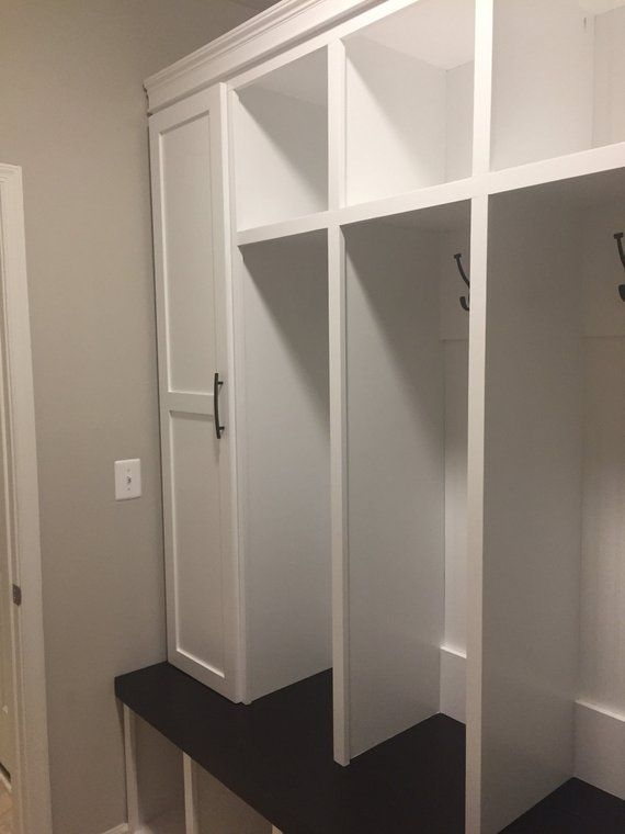 Mudroom Locker Entryway 4 Cubbies With Side Cabinets Etsy