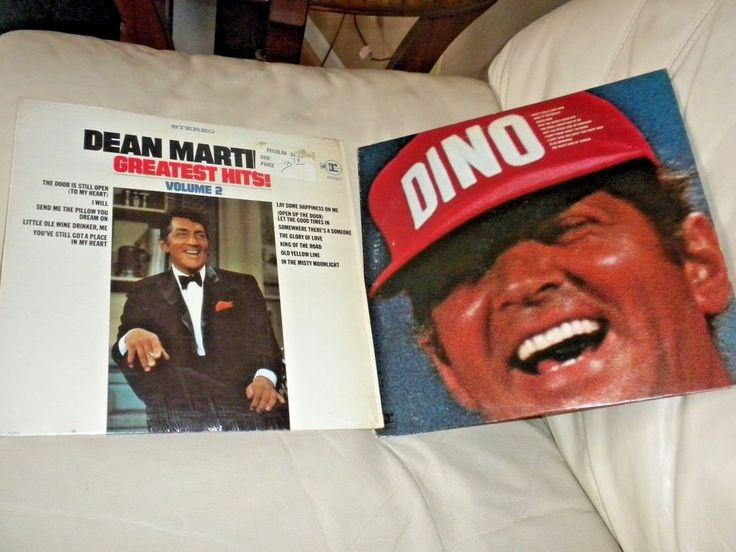 "LOT OF 2 LP'S - DEAN MARTIN ""Greatest Hits Volume 2"" & ""Dino"" - RECORD RAT PACK 