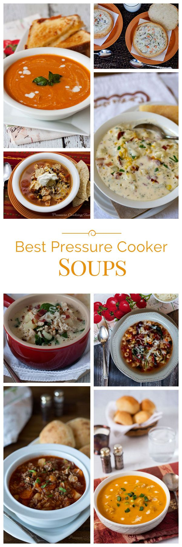 It's soup weather! I love homemade soups in the pressure cooker. So today, I'm sharing the best pressure cooker soup recipes on Pressure Cooking Today.