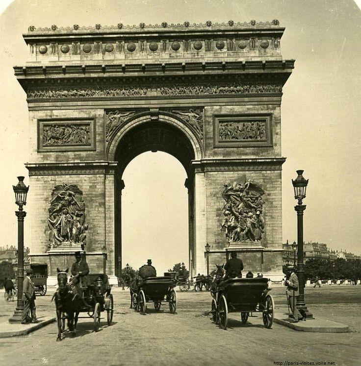 La place de l'Etoile comme vous ne la verrez jamais plus (1906) ! #Paris #France #tourisme http://paris-visites.wix.com/paris-visites