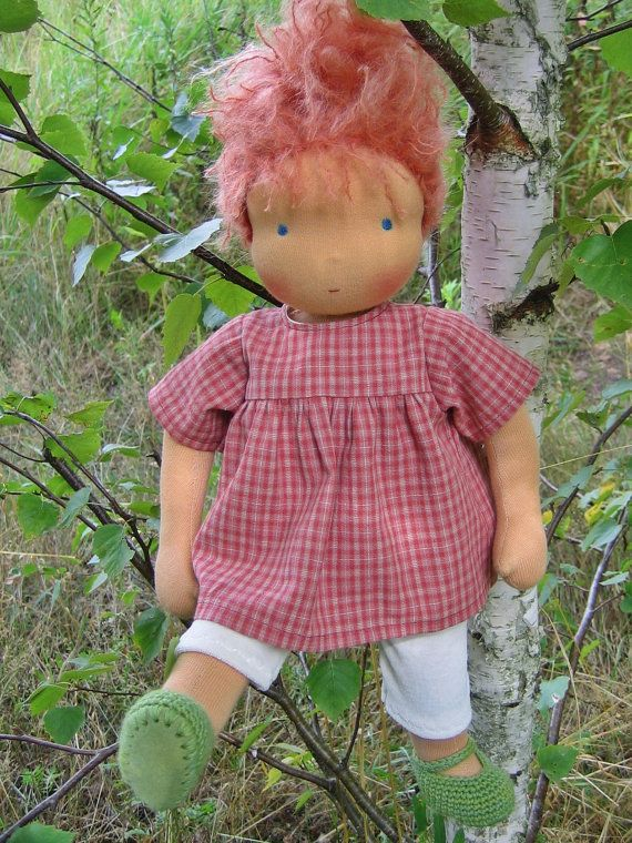 Waldorf Doll Clothes for 16 inch Nestling Dolls by Heikeleien, $32.00