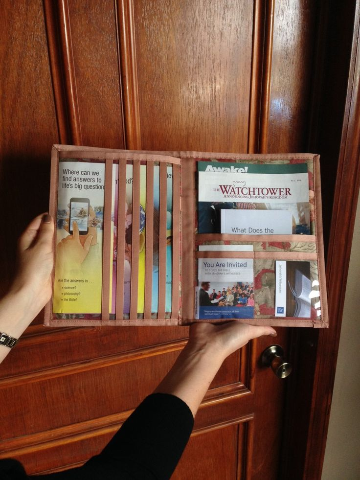 Handmade JW ministry organizer that hold your iPad or Tablet! Love this!!!  Tablet Service Organizer/Magazine Holder by pearlandjean on Etsy