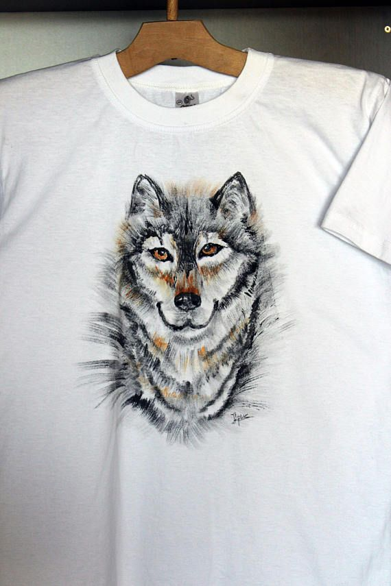 Hey, I found this really awesome Etsy listing at https://www.etsy.com/listing/525231196/hand-painted-t-shirt-painted-wolf
