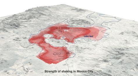 Este mapa muestra cómo se propagó el sismo en la CDMX - Código Espagueti