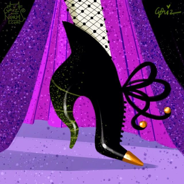 Day 19 -- Villain week!  Maleficent in a @worldmcqueen horn heel inspired booties.  #griz #grizandnorm #fanart #fashionart #fashionillustration #shoedesign #shoelust #shoeenvy #disney #day19 #maleficent #sleepingbeauty #horn #alexandermcqueen