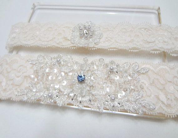 Matrimonio giarrettiera Set qualcosa di blu di MirinoBridal
