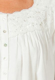 Images of Eileen West Flannel Nightgown - Flounce Ballet Nightgown in Ivory Divine