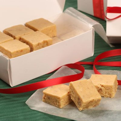 Spiced Pumpkin Fudge-this looks like a tasty treat for tailgating or a staff meeting at school.